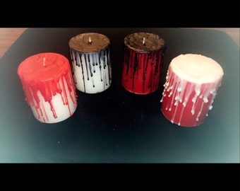 Color Dripped Candles - Dark Goth Style