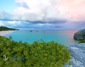 Long Bay Cliffs ~ Bermuda, Sunset, Ocean, Beach Photography, Coastal, Tropical, Turquoise Waters, Home Decor, Artwork, Fine Art Photography