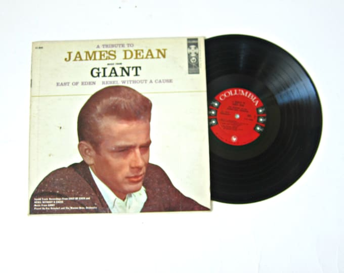 A Tribute to James Dean Music from GIANT Vinyl Record Album 12 Inch LP Vintage Music Columbia Record Album