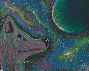 8x10 PRINT Galactic Wolf