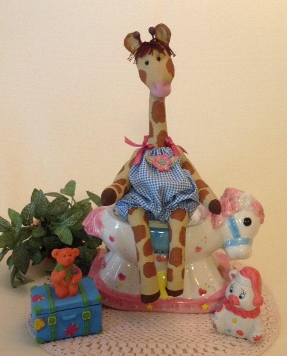 Baby Giraffe - Cloth Doll E-pattern An adorable little baby giraffe sewing design