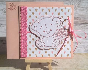 """Card child """"Pooh tenderness"""""""
