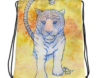 White Tiger Galaxy - Drawstring bag