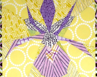 Clackamas Iris Quilt Pattern