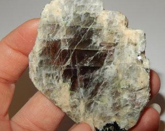 Sunstone in Moonstone slab (rare combo) - both sides polished