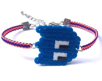 Blue Monster Shamballa Bracelet, Ghost Shamballa Bracelet, Perler Ghost Charm Bracelet, Perler Monster Shamballa Bracelet