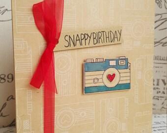 3D Snappy Camera Handmade Birthday card