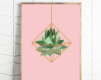 cactus print, himmeli decor, plant art, cactus art, cactus decor, cactus download