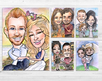 Wedding/ Proposal/ Engagement Caricature