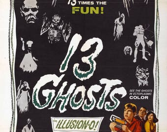 """13 Ghosts 11x17"""" poster print"""