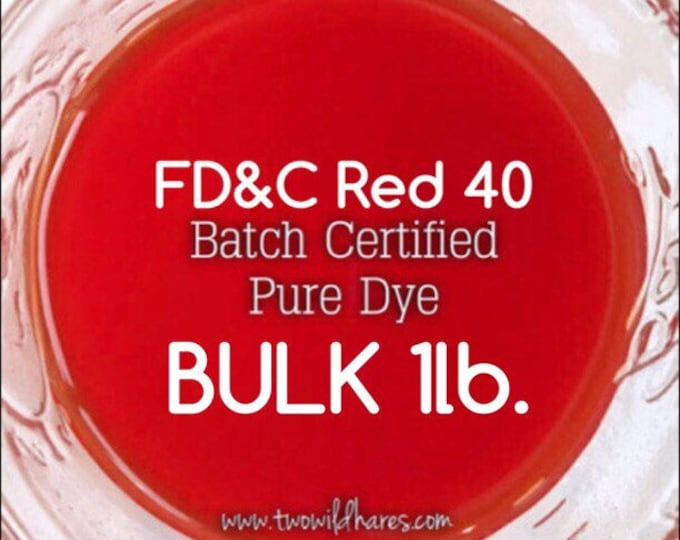 BLOOD ORANGE Water Soluble DYE, Fd&c Red 40, 94% Pure Dye, Batch Certified, Cosmetic Powdered Water Colorant, Bulk 16 oz.