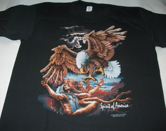 Vintage indian motorcycle t shirt laughing indian by trinity productions made in the usa 1991 new without tags NmJn2MwpO