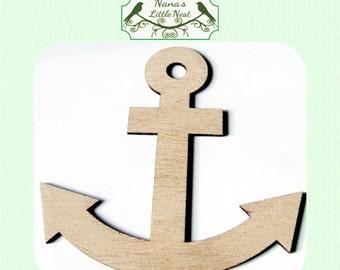 Anchor (Medium) Wood Cut Out - Laser Cut