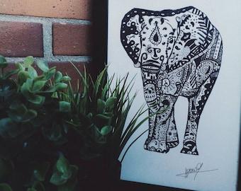Elefante Zentangle