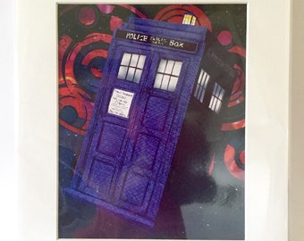 """Tardis from Dr Who 11x14"""" Art Print by deShan"""