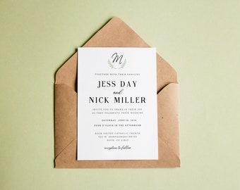 Simply Classic Wedding Stationery- Invitation