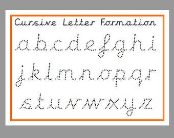 dotted line letters to trace