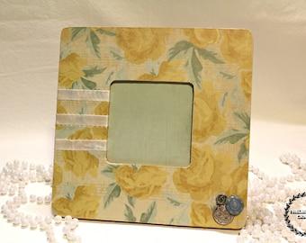 Antique Floral Themed Frame