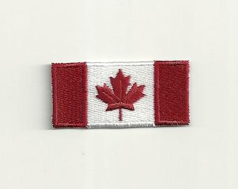 Tiny Canadian Flag Patch! Custom Made! F26