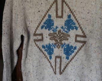Country Suburbans Knit Medium Sweater Vintage 1970s