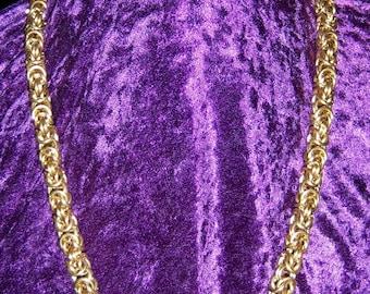 Byzantine Brass Knights Chain SCA