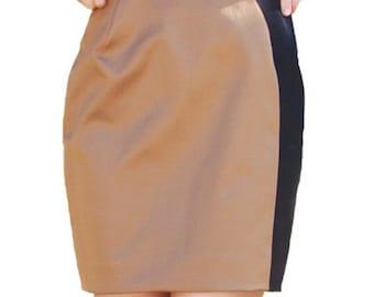 Elegant Viscose Two Colours Mini Skirt || Black and Brown mini skirt || Party Pencil Skirt || Office Mini Skirt || Made in Israel