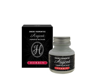J. Herbin Silver Pigmented Calligraphy Ink - 1 oz Bottle