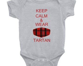 Keep Calm, Wear Tartan, Infant Bodysuit