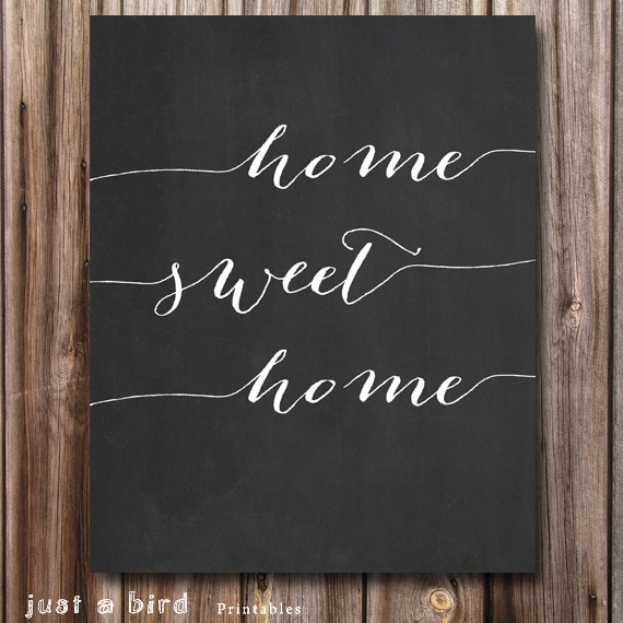 Home Chalkboard Art Ideas: Items Similar To HOME SWEET HOME Chalkboard Art Printable