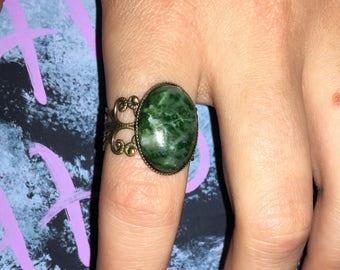 Jade vintage inpsired ring