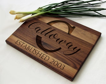 Personalized Cutting Board, Personalized Monogram Engraved Cutting Board, Cutting Board Gift Idea, Engraved Cutting Board