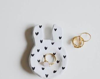 Handmade Ceramic Bunny Ring Dish