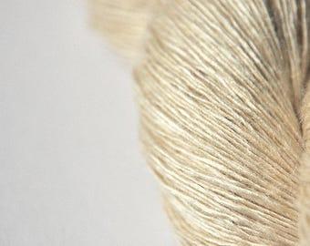 Ghost - natural Tussah Silk Lace Yarn