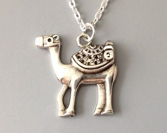 Silver or Bronze Camel Necklace, Camel Jewelry, Arabian Camel Jewelry, Dessert Animal Necklace, Animal Lover Jewelry, Animal Necklace Gift