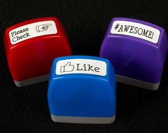 Please Check, Like, #Awesome Stamp Set