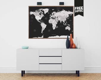 World map print etsy world map world map wall art world map print world map poster gumiabroncs Image collections