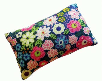 Blue Floral Pincushion filled with Emery Sand