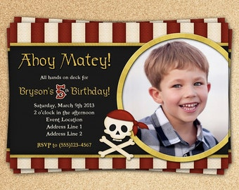 Buccaneer Birthday Invitation
