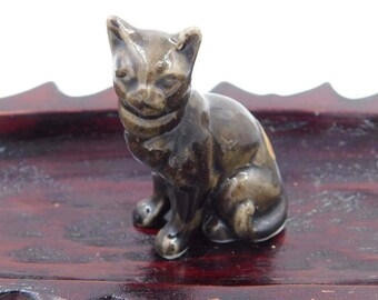Vintage Bone China Miniature Siamese Cat Figurine