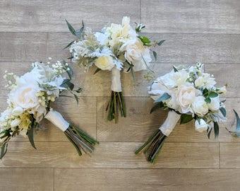 Bridesmaid Bouquet, Wedding Bouquet, Silk Flower Bouquet, Wedding Flowers, Bouquet, Flower Bouquet