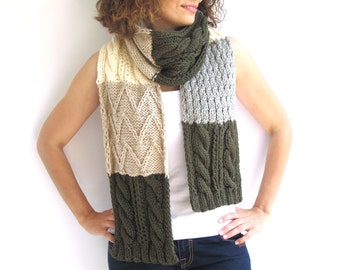 Patchwork Scarf Stole in 4 Different Colours by Afra