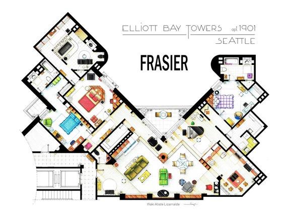 Frasier cranes apartment floorplan from frasier malvernweather Gallery