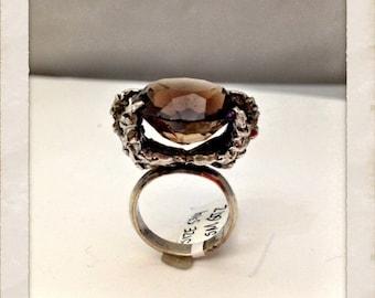 Talon Ring Smokey Quartz (sterling silver)