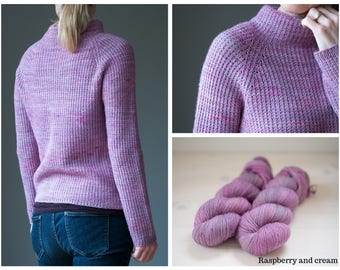 Baby Alpaca+Merino - yarn kit for Raspberry and cream sweater by Katrin Schneider