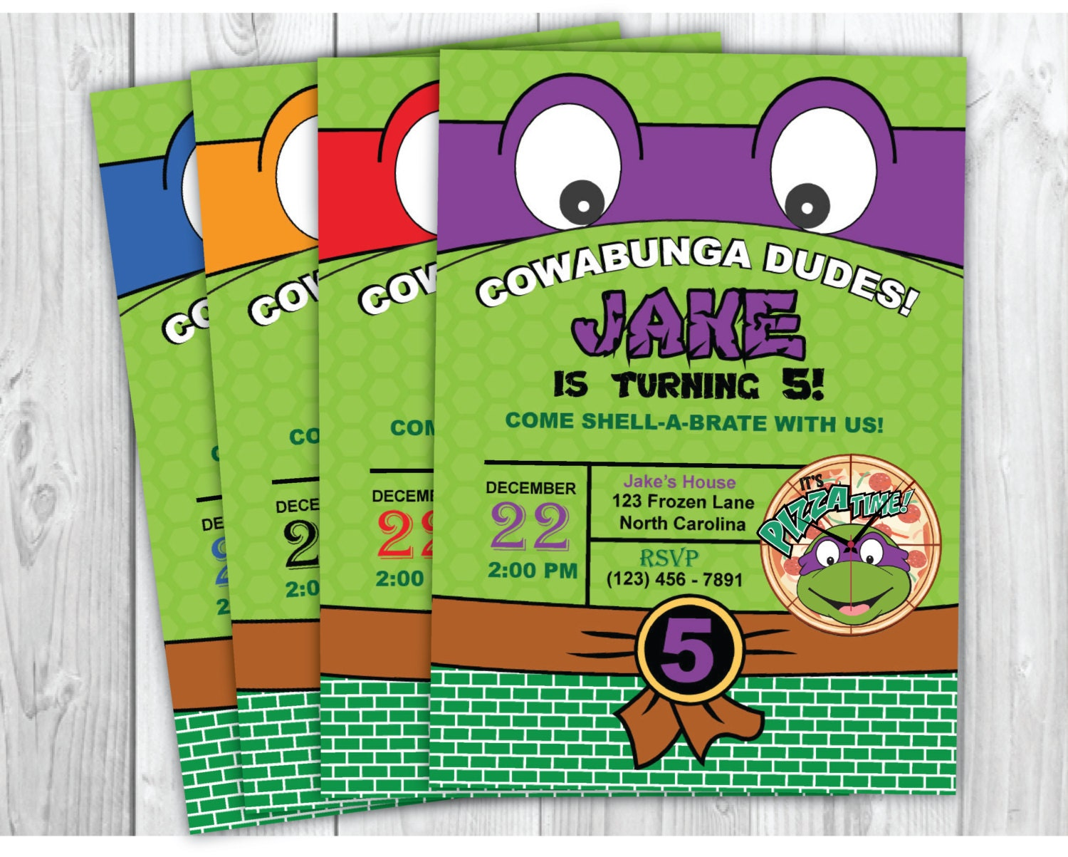 Teenage Mutant Ninja Turtles Invitation Ninja Turtle