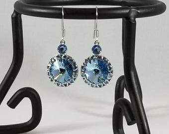 Crystal Earrings, Dangle Earrings, Bridesmaid Jewelry, Women's Earrings, Light Blue Earrings, Aquamarine Earrings, Hypoallergenic Earrings