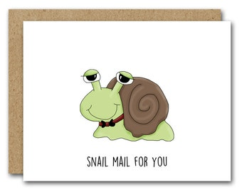 PRINTABLE Snail Mail Card, Snail Card, Friend Card, Funny Card, Snail Thank You, Snail Birthday, Snail Note Card, INSTANT DOWNLOAD