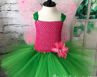 Pink and Green butterfly tutu, butterfly tutu dress, fairy tutu dress, butterfly costume, fairy tutu costume, fairy costume, Fairy tutu