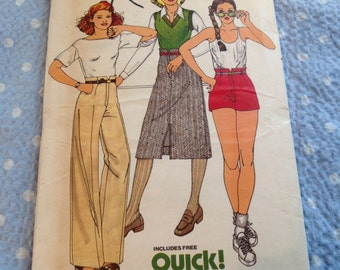 Vintage Butterick Pattern 6141, 70's Pattern, Uncut Pattern, Skirt Pattern,  Pants Pattern, Shorts Pattern, Size 12 Pattern