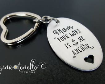 Mom Keychain Personalized, Mom Gift, Mom Christmas Gift, Personalized Mom Birthday Gift, Keychain for Mom, Gift for Mother of the Bride